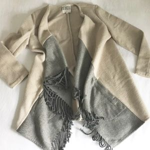 BBDAKOTA wool coat with fringe